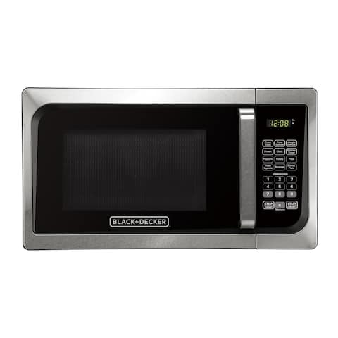 Black & Decker EM925AJK-P1 0.9-Cubic Foot Pull Handle Microwave, Stainless Steel