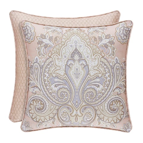 Royal Court Sloane 18 Inch Square Damask Decorative Throw Pillow