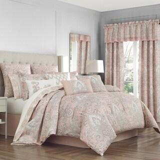 Royal Court Sloane Blush Damask 4 Piece Comforter Set