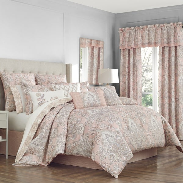 Matching Bedroom And Bathroom Sets: Shop Royal Court Sloane Blush Damask 4 Piece Comforter Set