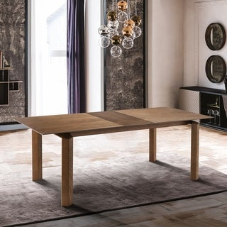 Treviso Mid-Century Extension Dining Table in Walnut Finish and Top