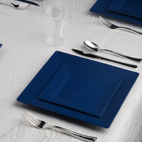 Standard Square Disposable Plastic Dinnerware Party Package - For Party's and Weddings