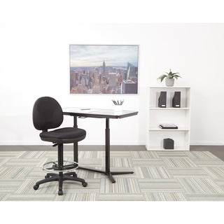 Work Smart Sculptured Fabricated Seat and Back Drafting Chair