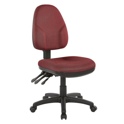 Dual Function Fabricated Ergonomic Office Chair