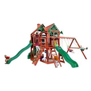 Gorilla Playsets Five Star II Deluxe Cedar Swing Set - N/A
