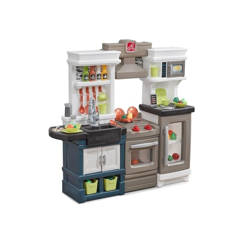Details about Kids Kitchen Play Set Modern Toy Toddler Cook Pretend Boy  Girl Gift Step 2 New