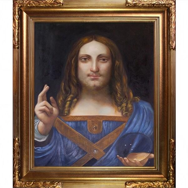 Shop Leonardo da Vinci 'Salvator Mundi' Hand Painted Oil