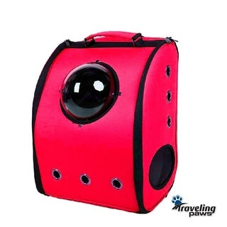 Pet Red Breathable Backpack Carrier