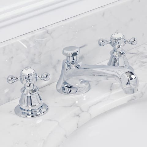 American 20th Century Classic Widespread Lavatory F2-0009 Faucets With Pop-Up Drain in Chrome Finish