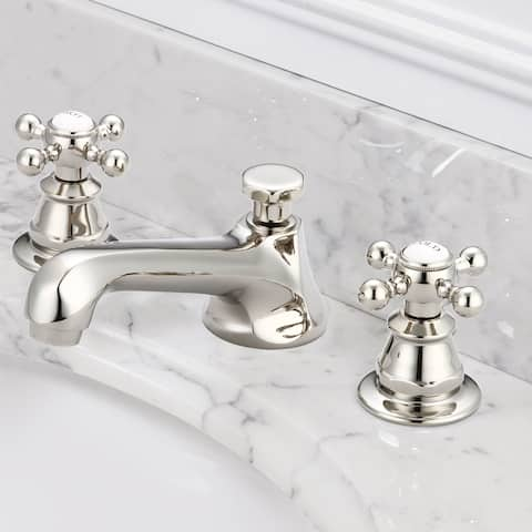 American 20th Century Classic Widespread Lavatory F2-0009 Faucets With Pop-Up Drain in Polished Nickel (PVD) Finish