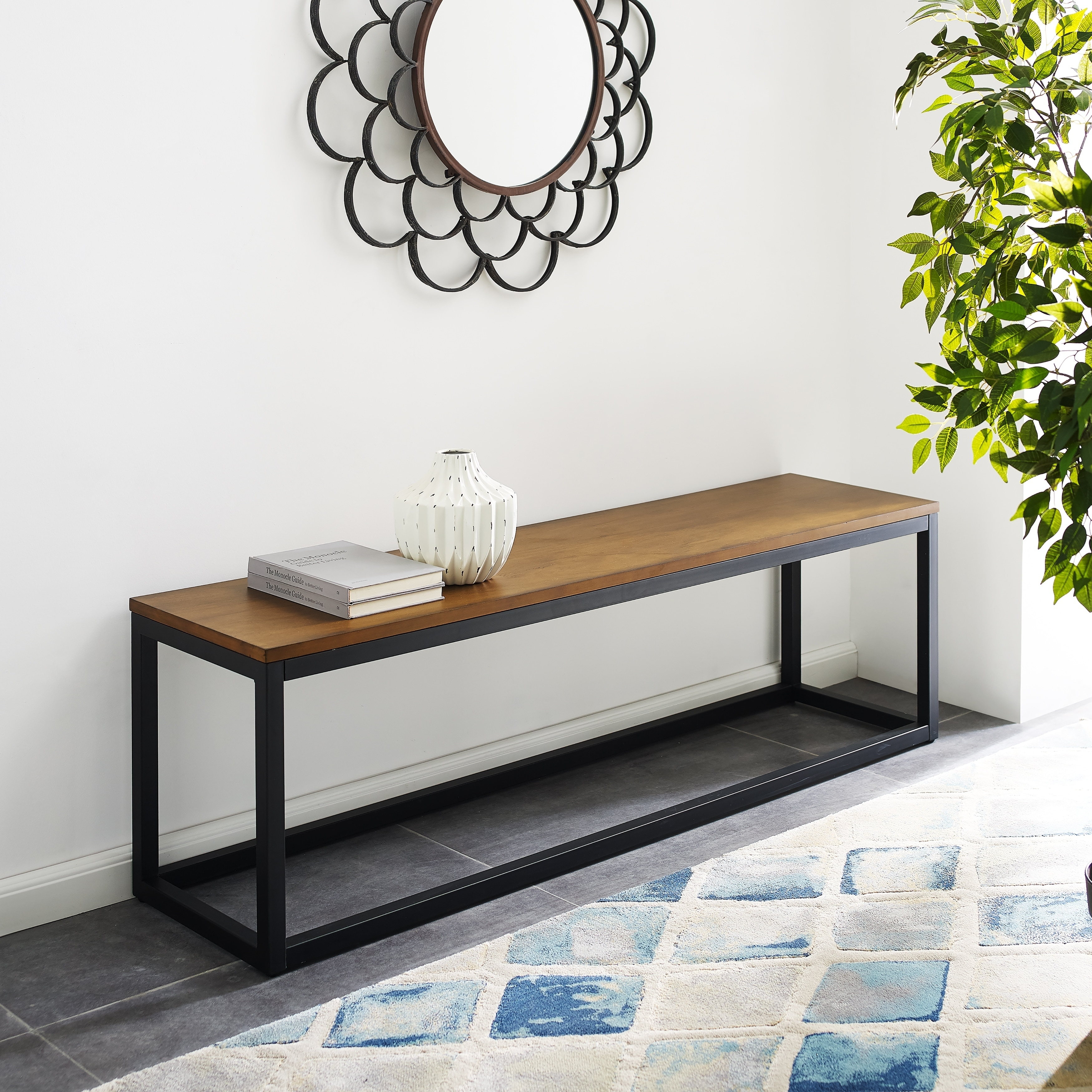 Carbon Loft Magie Narrow Coffee Table Bench