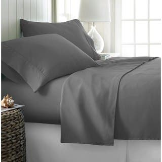 500 Thread Count Egyptian Cotton Sheet Set Twin Charcoal