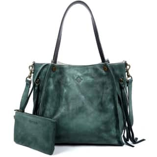 504afb3da75e Buy Green Leather Bags Online at Overstock
