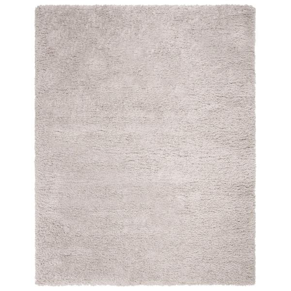 Safavieh Flokati Shag Modern & Contemporary Silver Polyester Rug - 8' x 10'