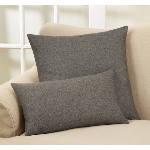 Tweed Wool Blend DownFilled Throw Pillow