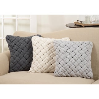 Chunky Basketweave Down Filled Throw Pillow