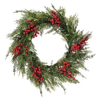 """Link to 24"""" Waterproof Berry Incense Cedar Wreath"""" Similar Items in Christmas Decorations"""