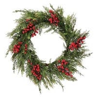 "24"" Waterproof Berry Incense Cedar Wreath"""