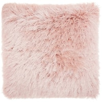 Mina Victory Yarn Shimmer Rose Shag Throw Pillow (17-Inch x 17-Inch)