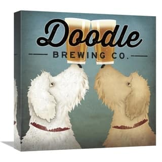 Global Gallery, Ryan Fowler 'Doodle Beer Double' Stretched Canvas Artwork