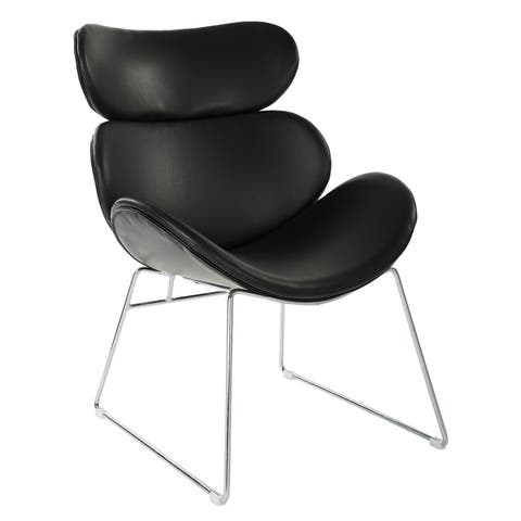Fabricated Jupiter Accent Chair with Chrome Base