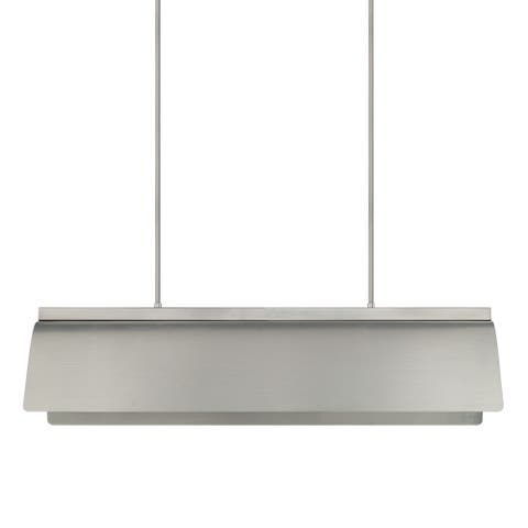 Wells 8-light Brushed Nickel Island Fixture