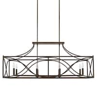 Capital Tybee 8-light Nordic Grey Island Fixture - nordic grey