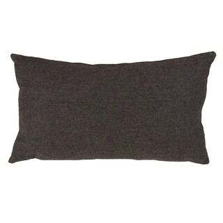 Wool Blend Down Filled Herringbone Throw Pillow