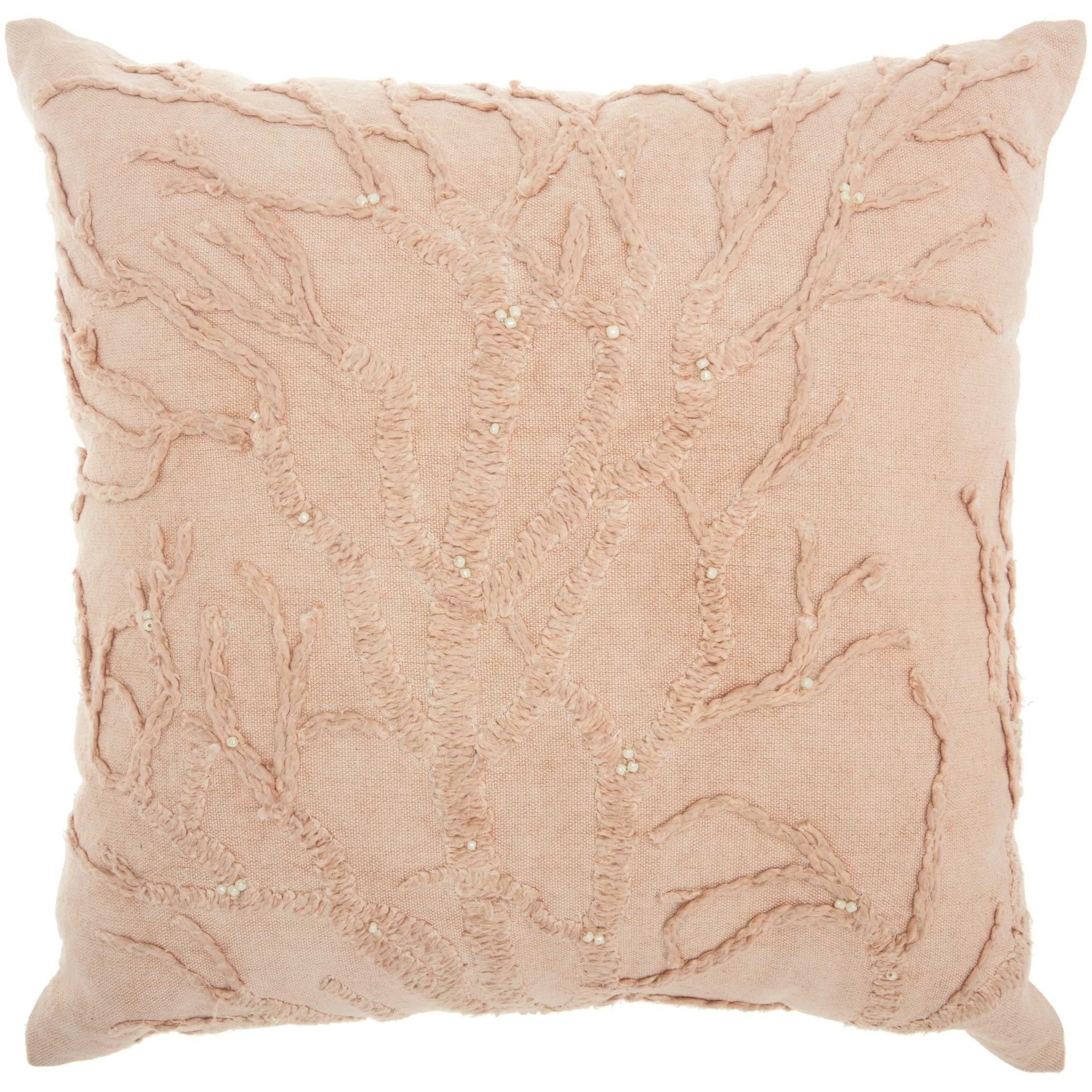 Mina Victory Life Styles Tree Of Life Blush Throw Pillow 18 Inch X 18 Inch Overstock 22852284