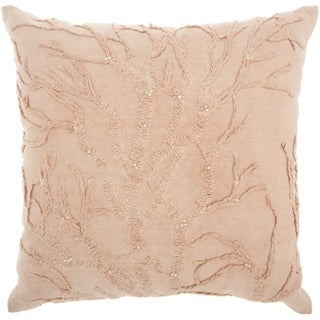 Mina Victory Life Styles Tree of Life Blush Throw Pillow (18-Inch x 18-Inch)