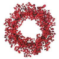 "24"" Waterproof Mini Berry Cluster Wreath"