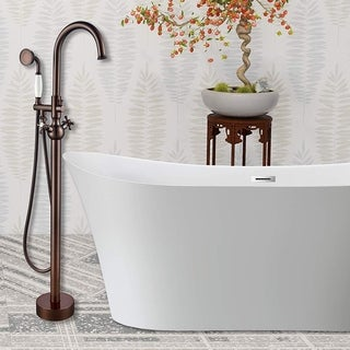 Vanity Art Oil-rubbed Bronze Freestanding Bathtub Faucet