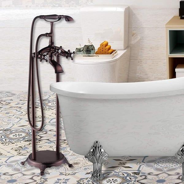 Shop Vanity Art Oil Rubbed Bronze Finished Bathtub Faucet