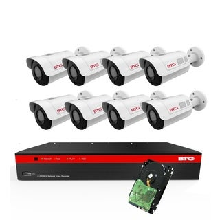 BTG 8CH 4K NVR 5MP 8 Cameras Security Camera System Built-in PoE with Outdoor 5MP Surveillance IP PoE 8 Bullet Cameras