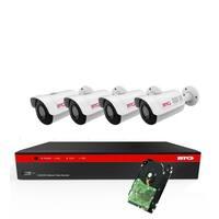 BTG 8CH 4K NVR 5MP 4 Cameras Security Camera System Built-in PoE with Outdoor 5MP Surveillance IP PoE 4 Varifocal Bullet Cameras