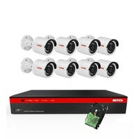BTG 5MP 8CH 8 PoE Security Camera System 4K NVR Built-in PoE with Outdoor 5MP Surveillance IP 8 Bullet Cameras