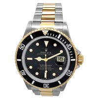 Pre-owned 40mm Rolex 18k Yellow gold and Stainless Steel Oyster Perpetual Submariner Watch with Black Dial - N/A - N/A