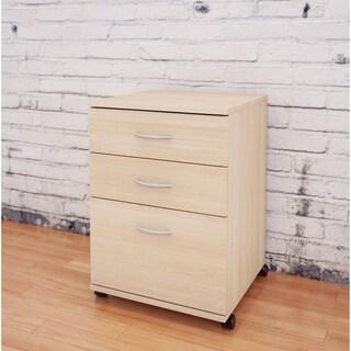 Nexera Essentials Mobile Filing Cabinet, Natural Maple