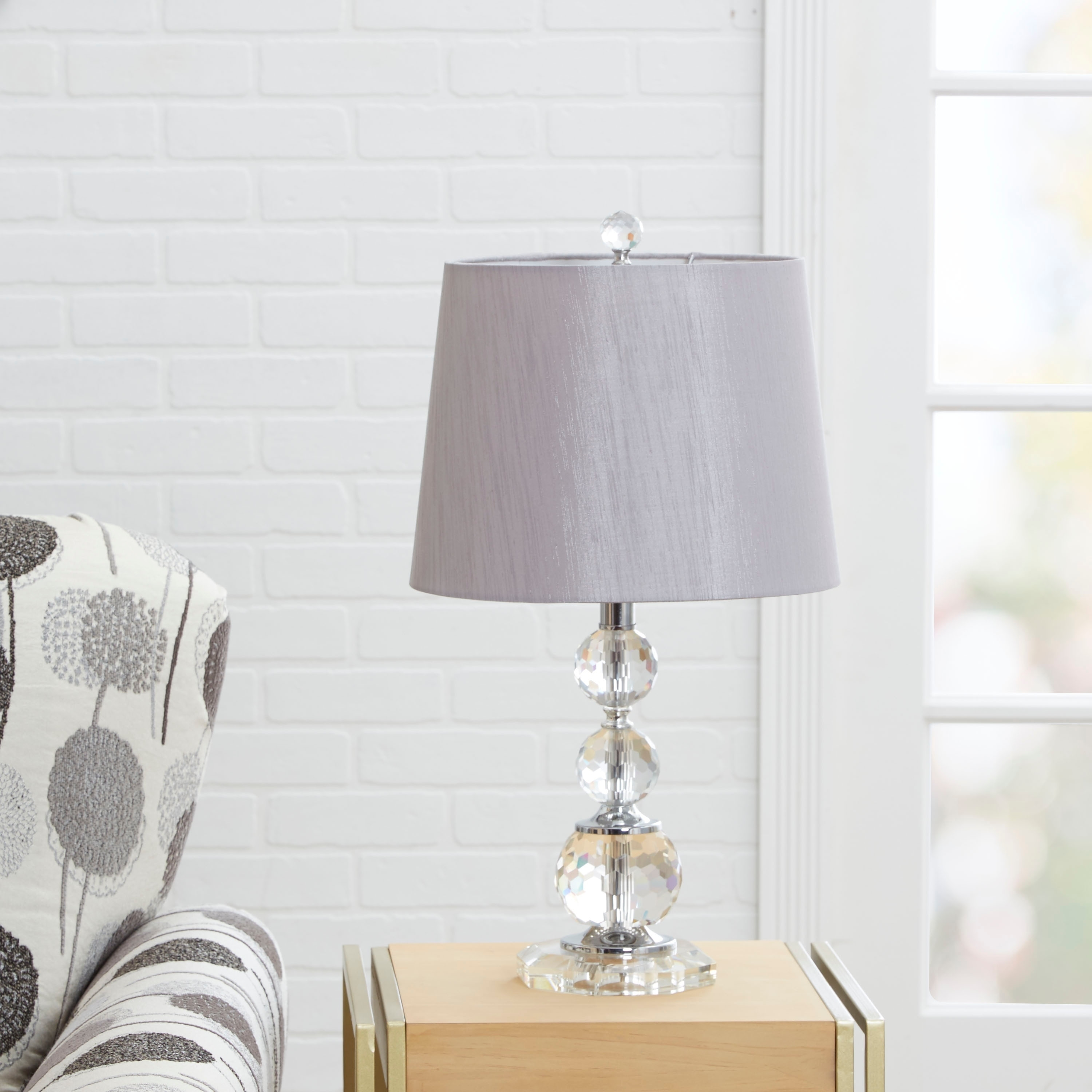 Carrington Crystal Sphere Stacked Table Lamp 50277001323 Ebay