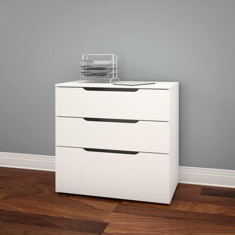 Nexera Arobas 3 Drawer Filing Cabinet, White