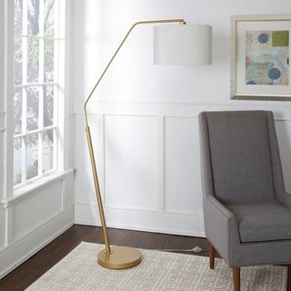 Denton Gold Finish Arched Floor Lamp