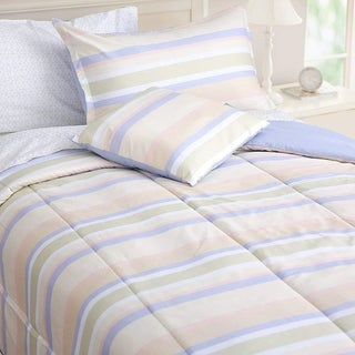 Honeymoon Comforter Set Bed In a Bag 6 PC Bedding, Twin with 1 Free Accent Pillow