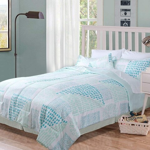 HOME FASHIONS Comforter Set Bed In a Bag, with 1 Free Accent Pillow