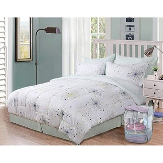 Honeymoon Bed In A Bag Comforter Set 9 PC Bed Set, Full with 1 Free Laundry Basket