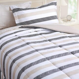 Honeymoon Bed In A Bag Comforter Set 7 PC Bed Set, Twin with 1 Free Laundry Basket