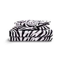 Honeymoon Queen Sheet Set Luxury Silkily Like Satin Bed Sheets, Zebra
