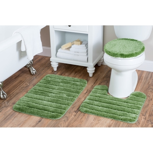 Shop Luxury Nylon 3 Piece Bath Rug Set - Overstock - 22853359