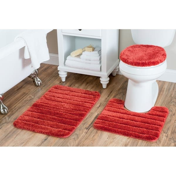 Awesome Shop Luxury Nylon 3 Piece Bath Rug Set On Sale Free Gmtry Best Dining Table And Chair Ideas Images Gmtryco