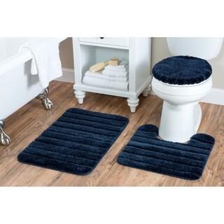 Luxury Nylon 3 Piece Bath Rug Set