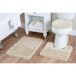 Luxury Nylon 3 Piece Bath Rug Set